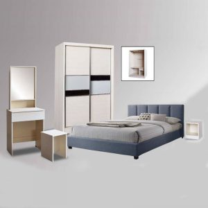 FA421W FOREVER 4×6 White Wash Bedroom Set