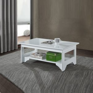MIYA21 RELAX MDF Material Coffee Table-white