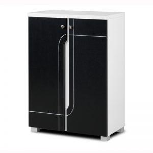 NABILA 2 door shoe rack cabinet – Black