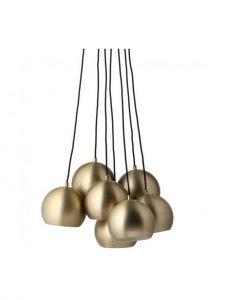 Slug 180Ø Glossy Brass Set of 7 Multi Pendant Lamp (CCC)