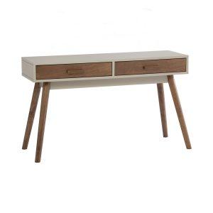 Bailey console table – Cocoa colour leg, Taupe Grey colour top