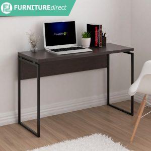 MIRANA 120x45cm Melamine writing desk- Dark Oak