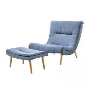 GUB TIMMY 7 – Solid Wood Frame With Fabric Upholstered Lounge Chair