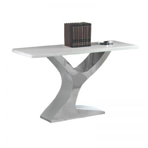 IZABELA CO901 – Marble Top With Stainless Steel Console Table