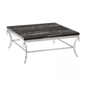 IZABELA IOIV2035 – Marble Top With Stainless Steel Leg Coffee Table