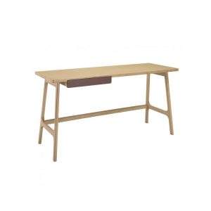 Morey working desk – Natural colour, Penny Brown colour drawer