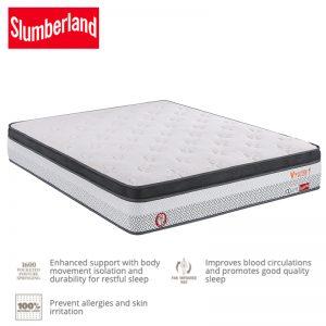 Slumberland Vitalize 1 Eurotop 11″ pocket spring mattress