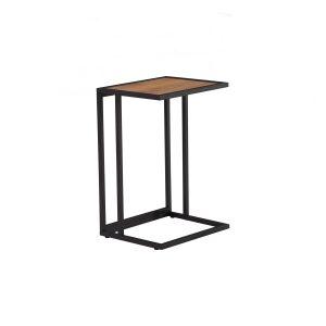 Ragnar Laptop Table – Black Colour Frame, Honey Oak Colour Top