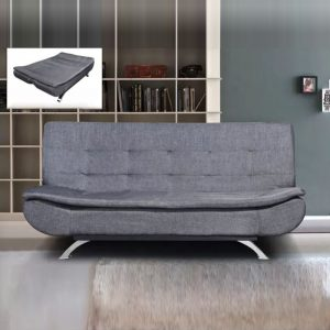 WLS SB614 GREY – Grey With Steel Base Structure Sofa Bed
