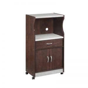 COVE Microwave Cart with castor-Wenge