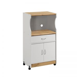COVE Microwave Cart with castor-White