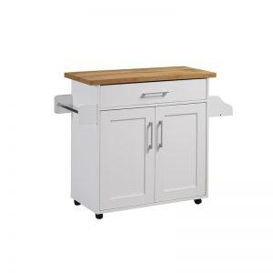 UNITI Kitchen Trolley with castor- White