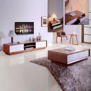 WLS MANHATTHAN TV+CT – Solid Wood Living Room Set
