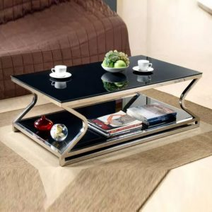 WLS CT912 – Glass Top With Metal Leg 1.2M Coffee Table