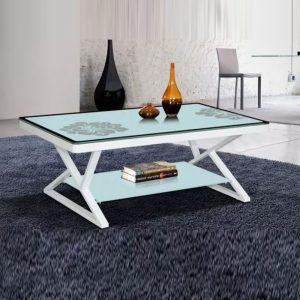 WLS T03 – Glass Top With Metal Frame 1.2M Coffee Table