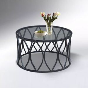 WLS CT616 – Glass Top With Metal Frame Coffee Table