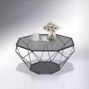 WLS CT608 – Glass Top With Metal Frame 1M Coffee Table