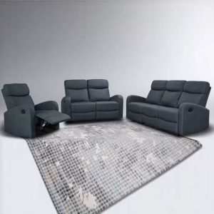 WLS M6011 – 1+2+3 Grey Recliner System Sofa Set