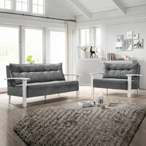 YOMI 136 – Solid Rubber Wood 2+3 Seater Sofa Set