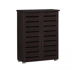 CLIFTON 2 Doors Shoes Cabinet- Wenge