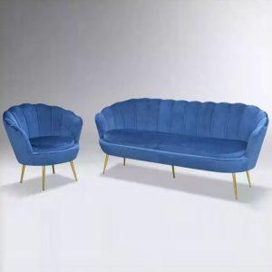 WLS GLORY 1&3 BLUE – 1+3 Seater Blue Sofa Set