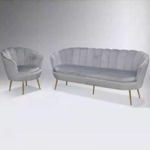 WLS GLORY 1&3 GREY – 1+3 Seater Grey Sofa Set