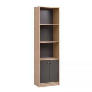 GUB MADO 19FC13 – Walnut Colour Solid Particle Board 7×2 Bottom Door Bookshelf