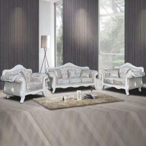 WLS CS803 – Solid Wood Classic Sofa Set
