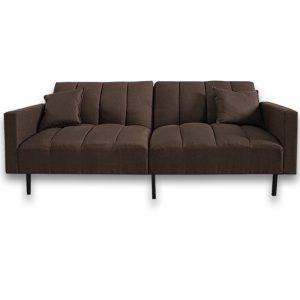 VERONIKA 3 seater fabric sofa bed-brown