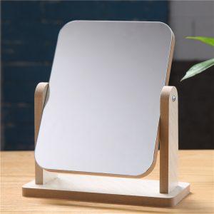Minimalist table top swivel mirror