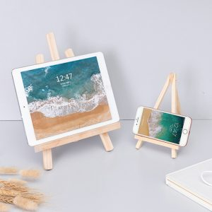 Ins style wooden phone and tablet holder